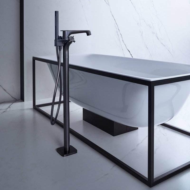 grifería de bañera de piso AXor Citterio E Black