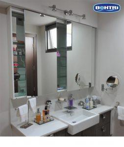 gabinete de baño BOHTRI de 3 cuerpos