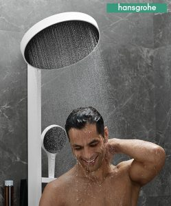 showerpipe Hansgrohe INFINITY blanca