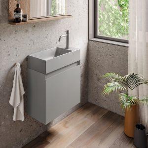 lavamanos compacto Catalano ZERO cemento mate